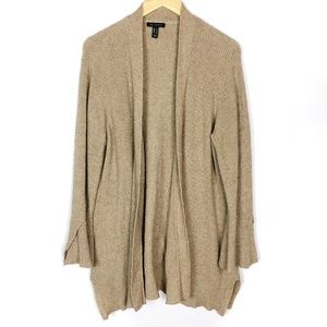 🎃 H by Halston Camel Knit Bell Sleeve Cardigan